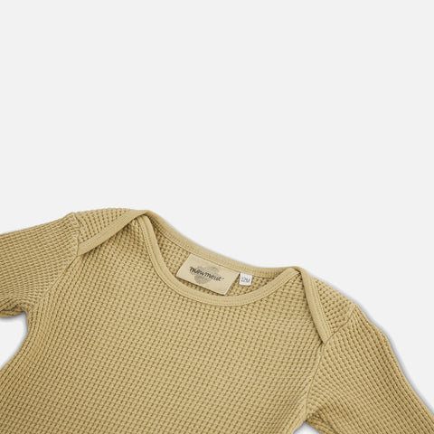 Cotton Honeycomb Mu Bee LS Top - Cactus - 2-8y