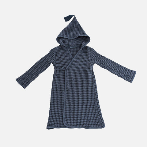 Cotton Honeycomb Pepin Bee Bathrobe - Stone - 2-6y