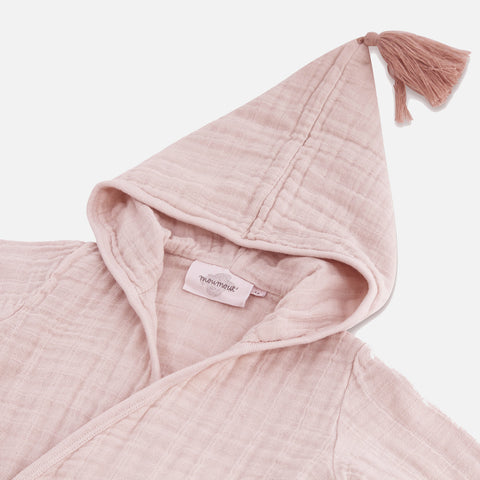 Muslin Pepin Bathrobe - Rose - 6-8y