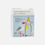 Glass and Natural Rubber Baby Bottles Small - 110ml - 2 pack