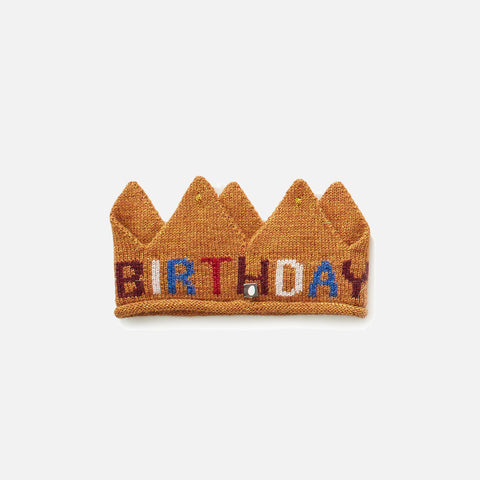 Alpaca 'Birthday' Crown - Gold/ Multi