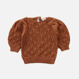 Alpaca Pointelle Top - Hazelnut