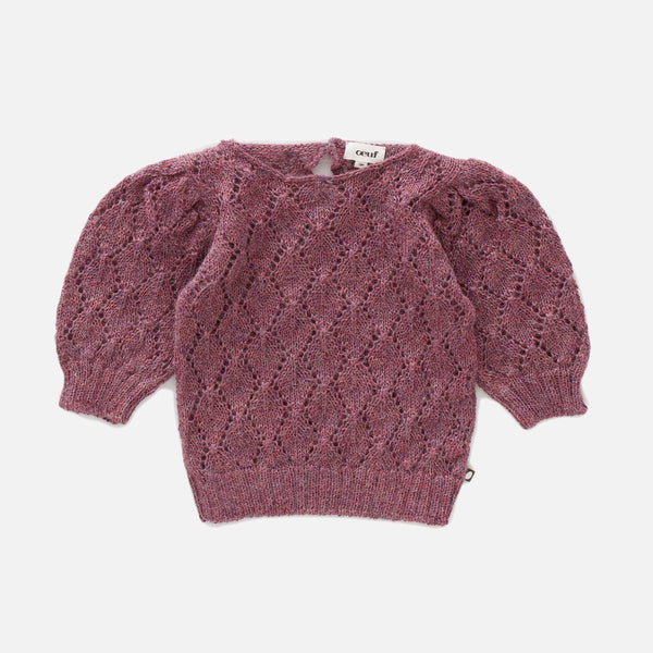 Alpaca Pointelle Top - Mauve