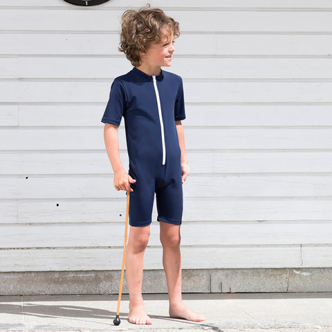 Noe UV Swim Sunsuit - Navy- 2-6y
