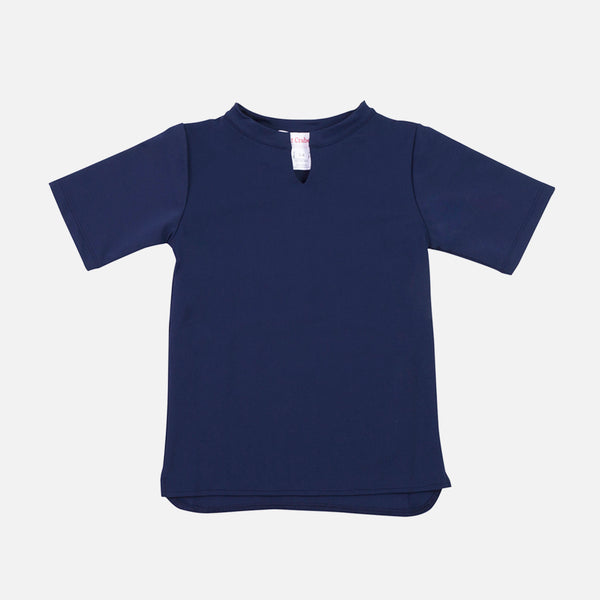 Hugo UV Protection Sun China Collar Shirt - Navy