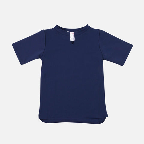 Hugo UV Protection Sun China Collar Shirt - Navy - 2-10y