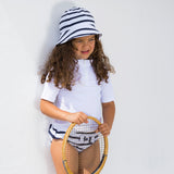 Max Half Zip UV Swim Shirt - White - 2-10y