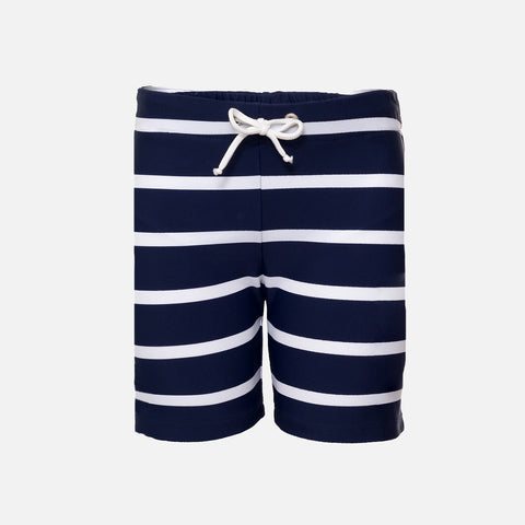 Alex Short Swim Shorts - Navy Stripe - 2-10y