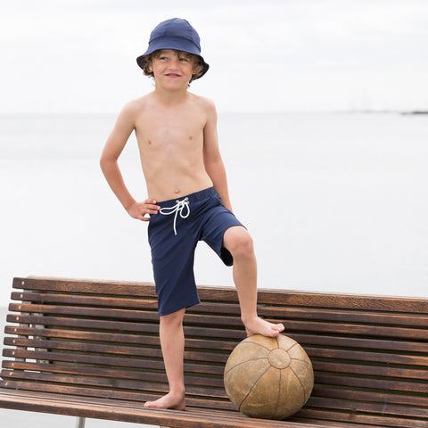 Sam Long Swim Shorts - Navy - 2-10y