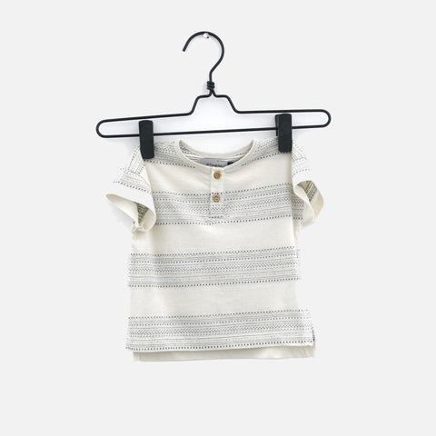 Cotton Freckled Tee - Jacquard - 3m-6y