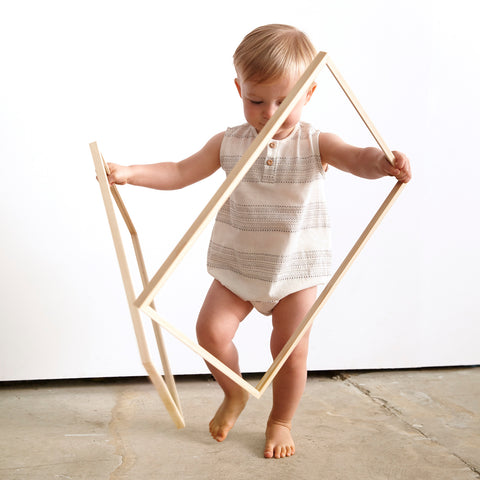 Cotton Freckled Romper - Jacquard - 3m-2y