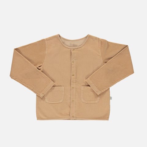 Organic Cotton Chunky Corduroy Manioc Jacket - Indian Tan