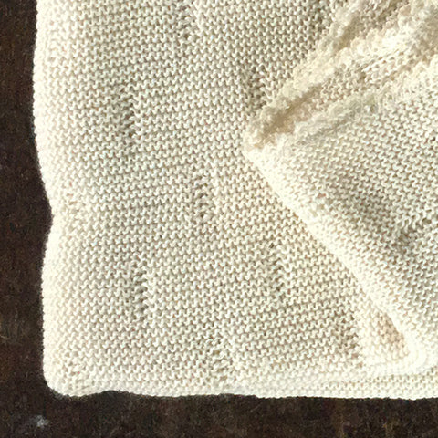 Organic Soft Knitted Merino Baby Blanket - Natural