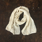 Organic Knitted Bourette Silk Kid's Scarf - Natural
