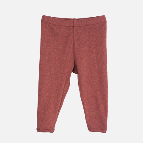 Organic Cotton Leggings - Cayenne