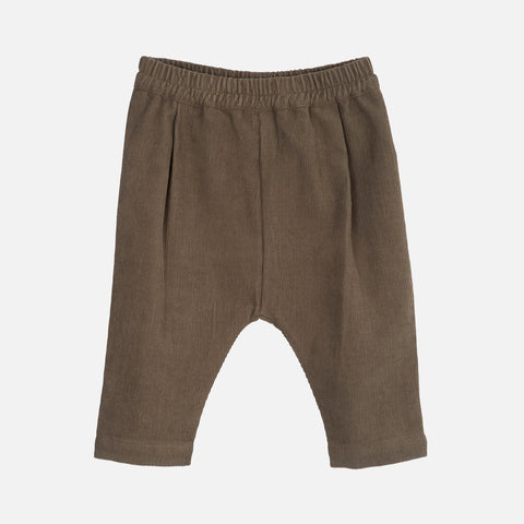 Organic Cotton Corduroy Baby Pants - Capers