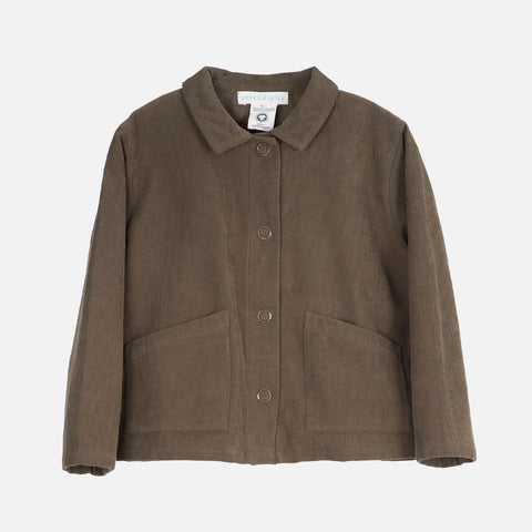 Organic Cotton Corduroy Jacket - Capers