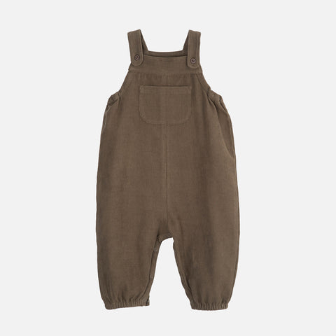 Organic Cotton Corduroy Baby Overall - Capers