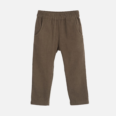 Organic Cotton Corduroy Pants - Capers
