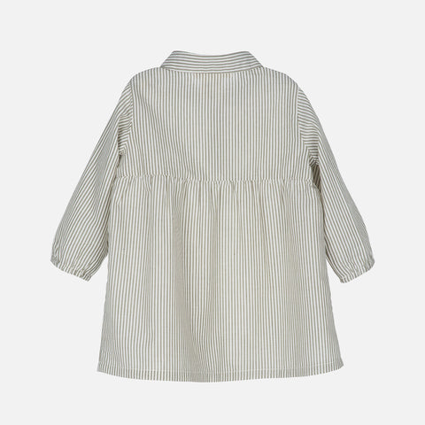 Organic Cotton Baby Dress - Capers Stripe
