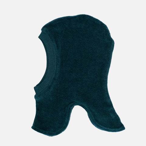 Organic Cotton Velour Balaclava - Atlantic