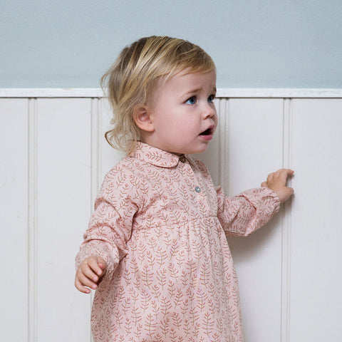 Organic Cotton Baby Dress - Winter Blossom