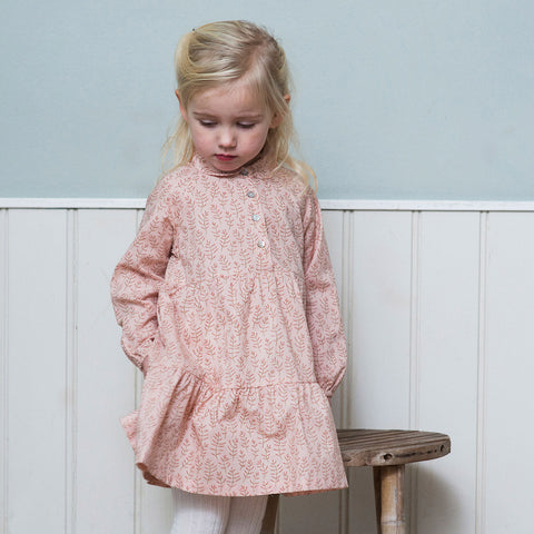 Organic Cotton Flair Dress - Winterblossom