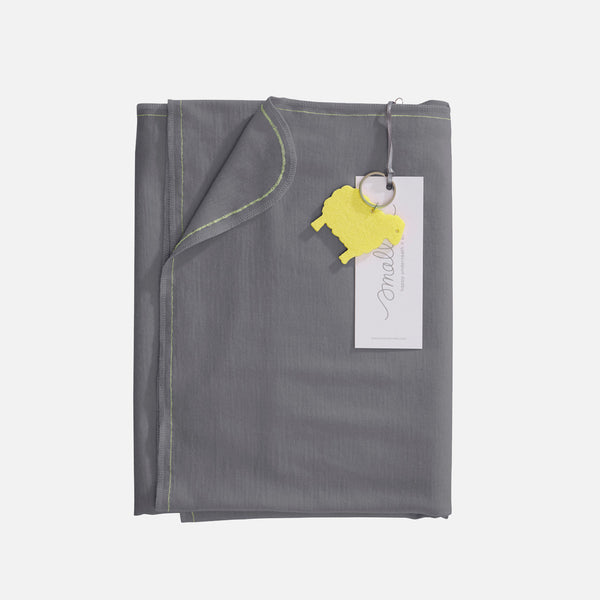 Merino Bleat Swaddle - London Fog