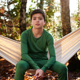 Supersoft Merino LS Top - Forest Green - 2-14y