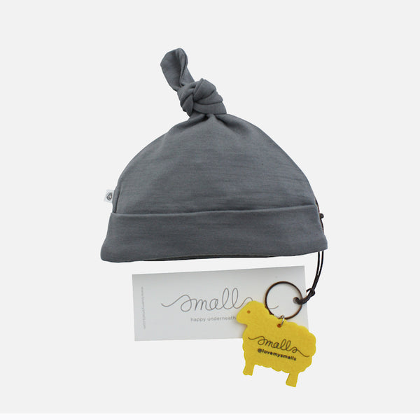Supersoft Merino knot Beanie- London Fog