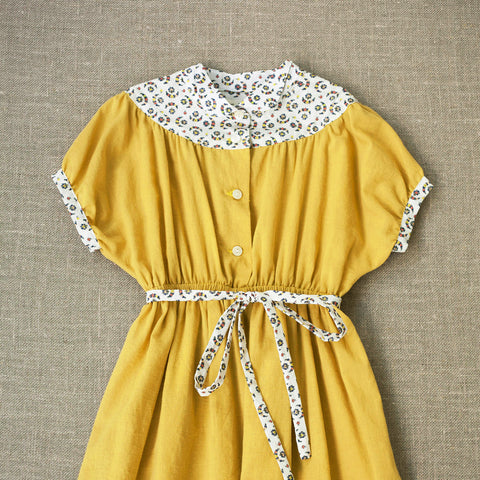 Cotton Astrid Dress - Chamomile - 4-9y