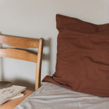 Organic Cotton Duvet & Pillow Cover - Mocha - Single