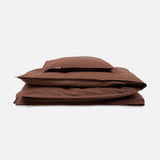 Organic Cotton Duvet & Pillow Cover - Mocha - Junior Size