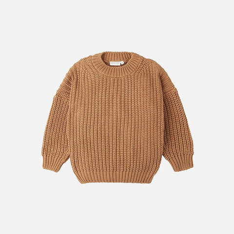 Cotton Chunky Pullover - Tan