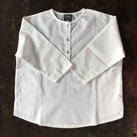 Cotton/Linen Shirt - White - 4y