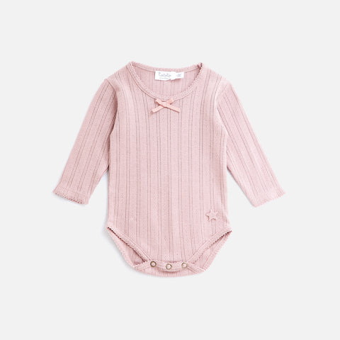 Cotton Baby Lace Body - Pink - 6m-2y