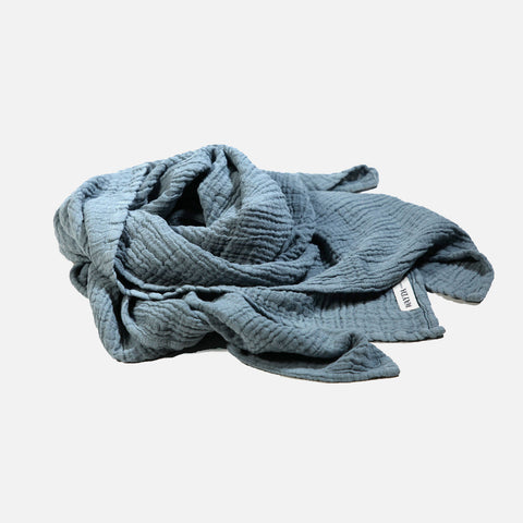 Children's Muslin Cotton Scarves - Blue Dove - 2-12y