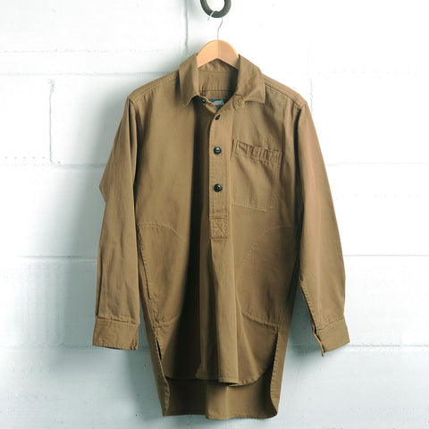 Adult Cotton Twill Worker Shirt - Khaki