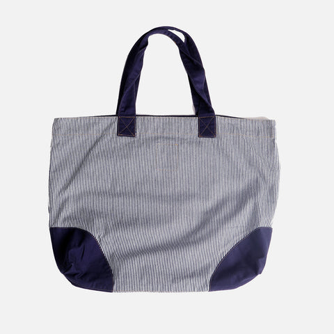 Cotton Shopper Bag - Navy Stripe