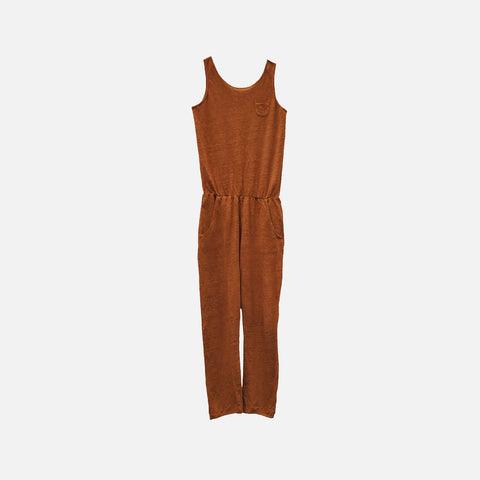 Linen Chino Long Romper - Arizona - 2-10y