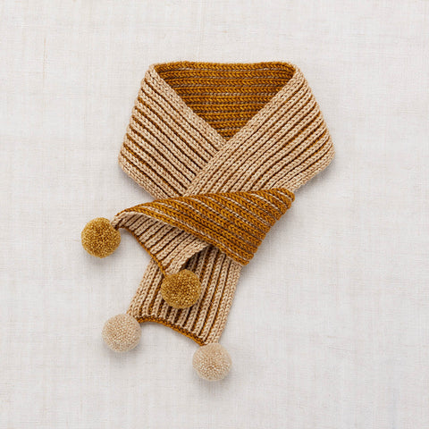 Hand Knit Merino Wool Gloucester Scarf - Spun Gold - One Size