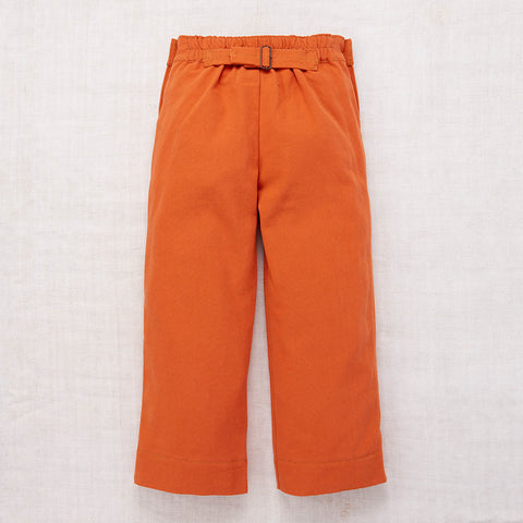 Cotton Canvas Trousers - Pumpkin - 1-8y