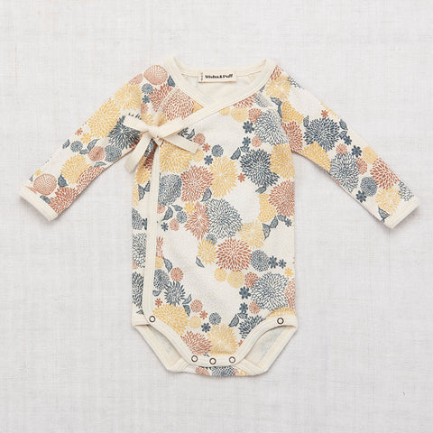 Cotton Cross Over Body - Chrysanthemum - 0-24m