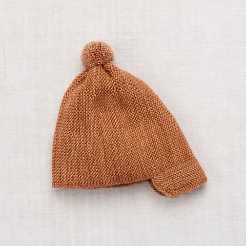 Hand Knit Playground Cap - Rose Gold - 1-8y