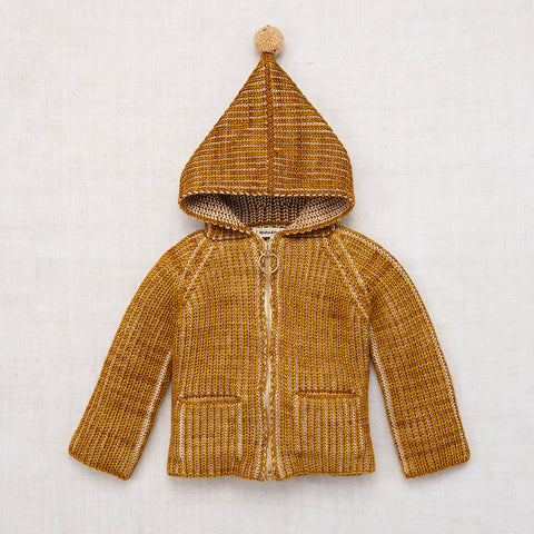 Hand Knit Merino Wool North Wind Coat - Spun Gold - 18m-8y