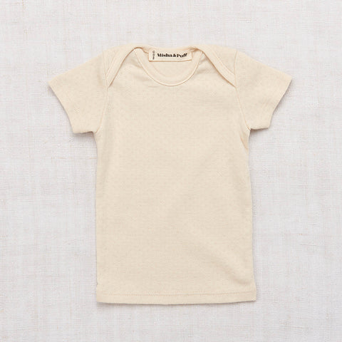 Cotton Pointelle Slim Tee - Natural - 6m-8y
