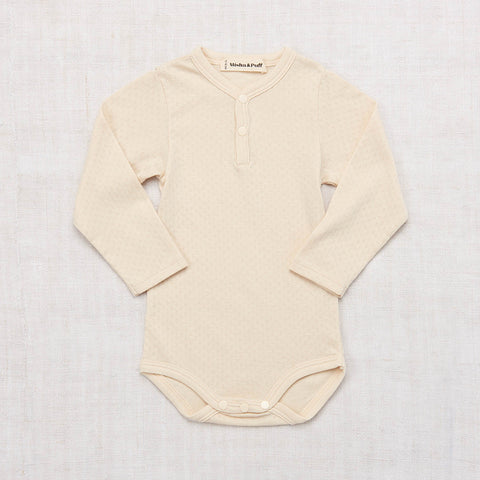 Cotton Pointelle Body - Natural - 0-24m