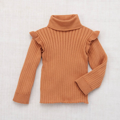 Cotton Ida Turtleneck - Rose Gold