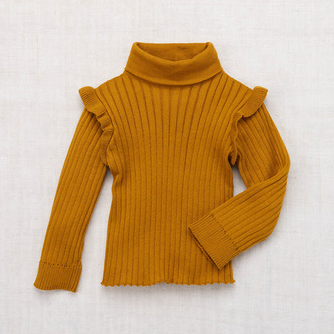 Cotton Ida Turtleneck - Spun Gold - 2-8y