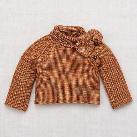 Hand Knit Merino Wool Scout Pullover - Rose Gold - 2-8y